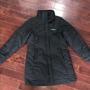 Columbia Knee Length Puffer Coat